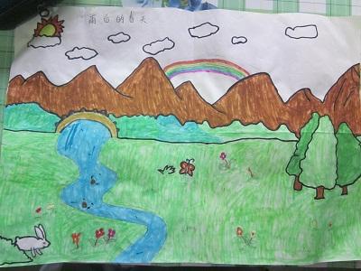 六年级春天的风景画